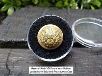 Old Rare Vintage Antique Civil War Relic General Staff Officer's Vest Button
