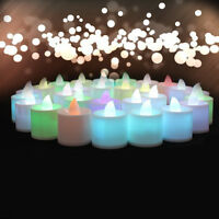 2017 Flameless Colorful LED Candle Tea Light Party Wedding Christmas Home Decor