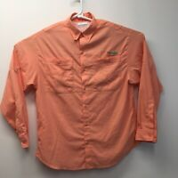 Columbia PFG  Omni-shade Fishing gear Women's Long Sleeve Shirt Sz Medium orange