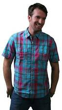LRG Hit and Run SS Turquoise Woven Shirt Size: S