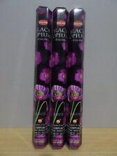 Black Opium Incense  3 Packs x 20 Sticks  HEM Hex   Free Post AU