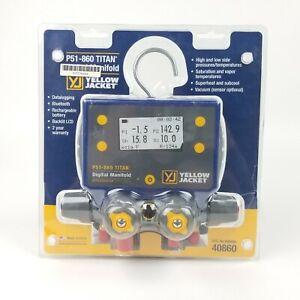 Yellow Jacket 40860 P51-860 Titan Digital Manifold
