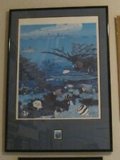 """John Akers """"Aquarium of the Americas New Orleans"""" LE 3191/5000, $5 Stamp Poster"""