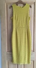 Zara Size Medium 10 12 Ladies Lace Dress Mustard Yellow Orche Pencil Wiggle