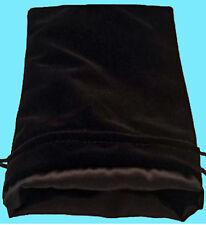 BLACK VELVET & LUXURY SATIN Lining DICE BAG NEW 6x8 Storage Pouch MDG Silk Game