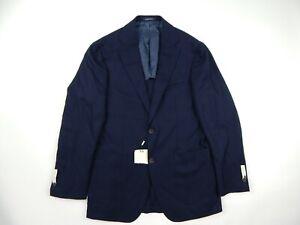 Suitsupply Havana Navy Blue Patch Pocket Blazer Hopsack Men's 38R Slim Fit New