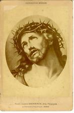 Christ en croix  Vintage albumen Print  Tirage albuminé  11x16  Circa 1880