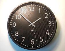 Wanduhr - Design Wanduhr - Wall Clock schwarzes Metall