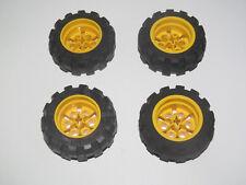 Lego ® Technique Lot x4 Roue Jante Pneu Voiture Camion Tire Wheel 6582 + 6581
