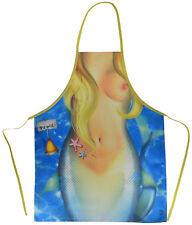 Mermaid  Woman  funny sexy flirty  Woman Apron Made in Italy Free Shipping