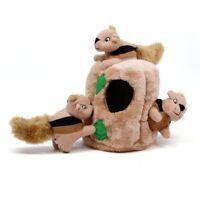 Outward Hound Hide-a-Squirrel Interactivce Plush Dog Puzzle Toy (4 Size)
