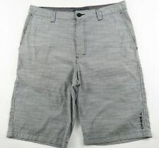 O Neill Mens Polyester Blend Gray Striped Khaki Chino Shorts Tag 31 Measured 33
