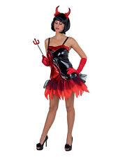 Kostüm für Erwachsene Teufelin-Kleid mit Spaghettiträgern Karneval