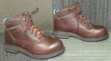 Wmns ARIAT Casual Mid Lace Composite Toe Tan Work Ankle Boots sz 7 B