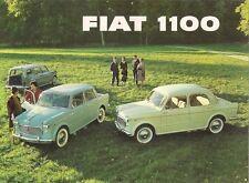 Fiat 1100 1961-62 UK Market Foldout Sales Brochure Export Special Estate