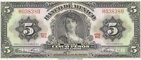 1961 Mexico 5 Pesos GYPSY UNC Mexican banknotes Cinco Sin Circular CRISP # 76