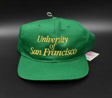 University of San Francisco Dons New Era Vintage 90s Snapback Cap Hat - NWT