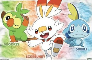 POKEMON - SWORD AND SHIELD - GROUP POSTER - 22x34 - 17967
