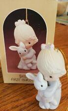 Precious Moments Ornament Baby's First Christmas Girl w/Bunny #E-5632