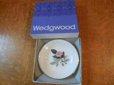 "Wedgwood Hathaway Rose bone china 4"" pin tray original box black mark"