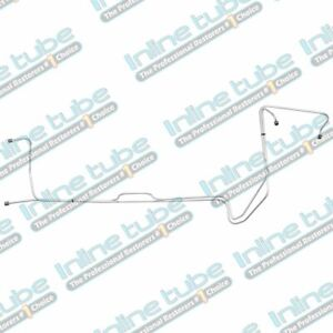 """1976-80 Plymouth Roadrunner/Volare 360CI 727 5/16"""" Trans Cooler Lines 2pc, Steel"""