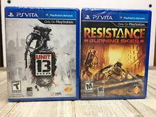 Resistance Burning Skies & Unit 13 Playstation Vita New Sealed