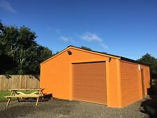 20x20ft (6x6m) Log Lap Timber - Garden Building, Office, Workshop, Garage,