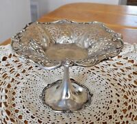 ANTIQUE MARCUS & CO. NEW YORK STERLING SILVER COMPOTE ~ PIERCED