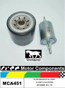 FILTER  SERVICE KIT for CHERY J3 M1X SQRF 1.6L Petrol09/2011 > ON