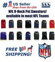 NFL V-Neck Sweaters, Licensed, 100% HIGH QUALITY Warm Pet Sweater for DOGS/ CATS