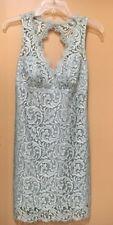 NWOT Nicole Miller Open Back Aqua Blue Lace Dress Size 2
