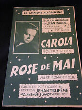 Partition Carola Jean Zager Rose de mai Music Sheet