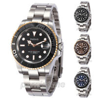 41mm Parnis Sapphire 21 Jewels Automatic Men Watch Stainless Steel Bracelet New