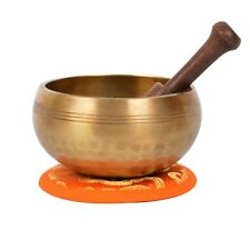 Tibetan Hand hammered Meditation Singing Bowl with matching protective bag