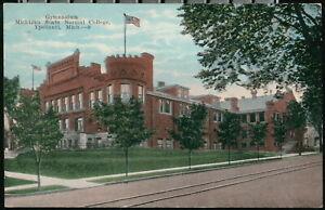 YPSILANTI MI Normal School Gymnasium Trolly Tracks Michigan College Gym Postcard