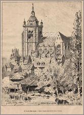 1884 : ILLUSTRATION / GRAVURE : éGLISE de DôLE JURA par G. COINDRE
