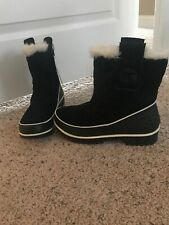 Sorel Low Boots Black Suede Waterproof Size 6