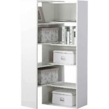 5 Shelf Expandable Bookcase Corner Bookshelf Book Case Console Storage White