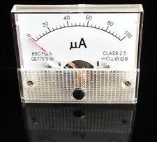 DC 100μA Analog Panel Ammeter ampmeter Gauge 85C1 Class 2.5 DC 0-100uA