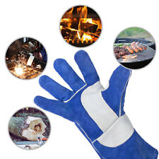 Leather Forge Mig Welding Gloves Made With Kevlar Barbecue Fireplace Welder