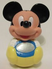 """1984 Vintage 7"""" X 5""""  Disney Mickey Mouse Plastic Mirror Baby Rattle Toy Collect"""