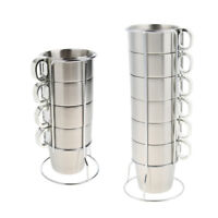 Stainless Steel Cups Camping Travel Drinking Tea Mug Coffee Home Outdoors