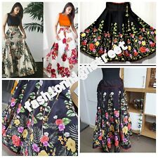 Selling Indian Lehenga Choli Flower Print Skirt Ethnic Wedding skirt free size