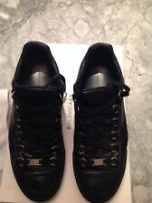 BALENCIAGA MEN SNEAKER ARENA BLACK LEATHER SIZE 41