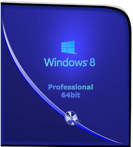 Microsoft Window 8 Pro 64bit Operation System DVD & Remove Activation CD