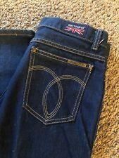 Vintage Brittania Jeans Straight Leg High Rise 70's Waist 32 Dark Wash