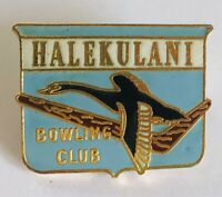 Halekulani Bowling Club Badge Pin Kiwi New Zealand Rare Vintage (L16)