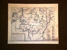 Mappa Lucimborgo Theatrum Orbis Terrarum 1724 Abraham Ortelius Ortelio Ristampa