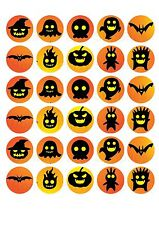 30 Halloween Edible Rice Paper Cupcake Cup Cake Topper Decoration Image (hw2)