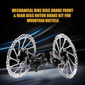Pair de Rotors de freins à disque mécanique pour VTT Vélo Vélo avant 160 mm